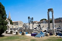 The Roman theater in Arles, France