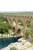 Pont du Gard Bridge, Roussillon, Languedoc, France