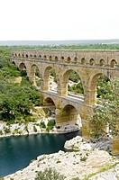 Pont du Gard Bridge, Roussillon, Languedoc, France