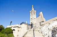 Notre Dame de la Garde in Marseille, Provence_Alpes_Cote d'Azur, France