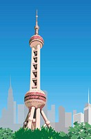 China, Shanghai, Oriental Pearl Tower (thumbnail)