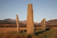 Standing stones on Machrie Moor, Isle of Arran, Scotland