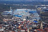 View of the Alcan aluminum factory, Singen am Hohentwiel, Baden-Wuerttemberg, Germany, Europe