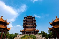 China, Hubei Province, Wuhan, Wuchang, Yellow Crane Tower
