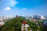 China, Hubei Province, Wuhan, Wuchang, Aerial View (thumbnail)