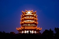 China, Hubei Province, Wuhan, Wuchang, Yellow Crane Tower, Nightlife