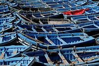 Blue fishing boats, Essaouira, Morocco