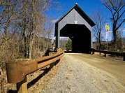 Best Covered Bridge  Located in Brownsville, Vermont USA on Churchill Road, which crosses over Mill Brook