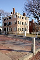 Salem Maritime National Historic Site, which was the first National Historic Site in the National Park System  This is the Hawkes House located in Sal...