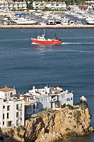 Old town of Eivissa, harbour, Ibiza, Baleares, Spain