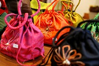 Colourful bags in a shop, Simply Home Furnishings, Washington DC, United States, USA