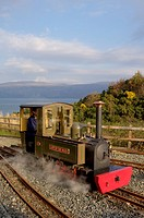 steam engine ´lady of the isles´,on the turntable at Torosay, United Kingdom, Scotland, Isle of Mull