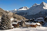 small mountain village of Arosa a ski resort in Switzerland , Switzerland, Arosa