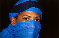 Tuareg in typical color, Tiffoultoute, Marocco, Africa