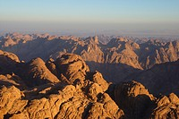 view from Mount Sinai, Egypt, Sinai