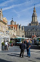 The Main Market Square and the belfry, Veurne, Belgium