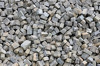 Pile of cobble stones