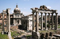 ITA, Italy, Rome : centre of the ancient Rome, buildings and ruins of the Foro Romano. |