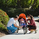 Parents and stroller