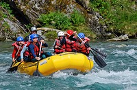 White-water rafting, Norway, Scandinavia