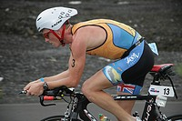 Triathlet Luke Bell from Australia in Hawaii, USA