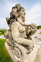 Statue in Baroque imperial festival palace Hof in Niederweiden in Lower Austria