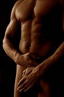 Naked body of a bodybuilder