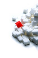 Diabetes with sugar cubes