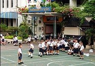Break time at a school in Bangkok Thailand