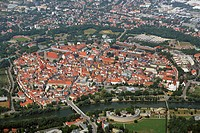 view at town, Germany, Bavaria, Oberbayern, Upper Bavaria, Ingolstadt