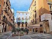 -Houses Sorrounding Cathedral of Tarraco- Tarragona(Spain).