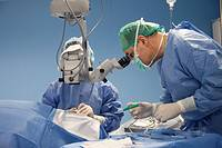 Eye surgery, cataract surgery, ophthalmology operating room. Hospital Policlinica Gipuzkoa, San Sebastian, Donostia, Euskadi, Spain