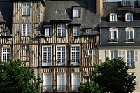 Rennes  Brittany  France  Half timbered buildings on Place des Lices