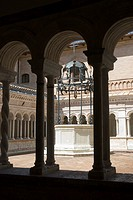 The Abbazia di Santa Croce in Sassovivo near Foligno in Umbria Italy  Benedictine Abbey on the slopes of Mount Serrone It was founded by the Benedicti...