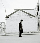 An ultra-orthodox Hassidic Jewish man in the district of Mea Shearim, Jerusalem, Israel