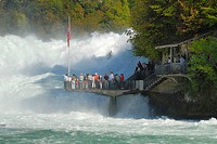 Rhine falls near the city of Schaffhausen _ Switzerland, Europe.