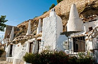 Troglodytic houses, Chinchilla. Albacete province, Castilla-La Mancha, Spain