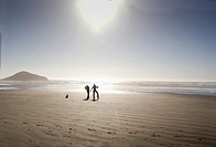 People on Long Beach, Vancouver Island, British Columbia, Canada