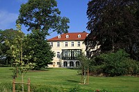 D-Essen Oldenburg, Hase, Hase Valley, Oldenburger Muensterland, Lower Saxony, manor Lage, estate, manor house, park, ditch, castle moat
