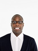 Man in glasses in studio head and shoulders