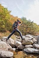 backpack, valley, baemsagol, baemsagol valley, Sannae_myeon, Namwon_si, Jeollabuk_do, korea, south korea, Oriental, Eastern people, asian