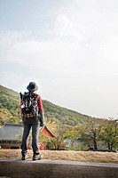 backpack, HWAEOMSA, Nogodan, Mt. Jiri, hwangjeol_ri, masan_myeon, Gurye_gun, Jeollanam_do, korea, south korea