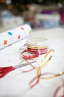 Gift Wrapping Materials close up (thumbnail)
