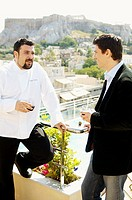Greece, Athens, Hotel Electra restaurant roof garden chef Georges Venieris.