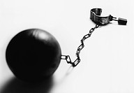 Ball and chain b&w