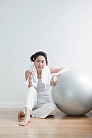 exercise ball, studio, mapo_gu, seoul, south korea, Oriental, Eastern people, asian
