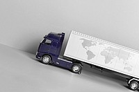 close_up of miniature truck