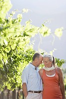 Portrait of mature couple at the vineyard (thumbnail)