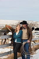 Couple on a ranch