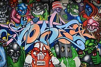 Graffiti wall, zurich, switzerland